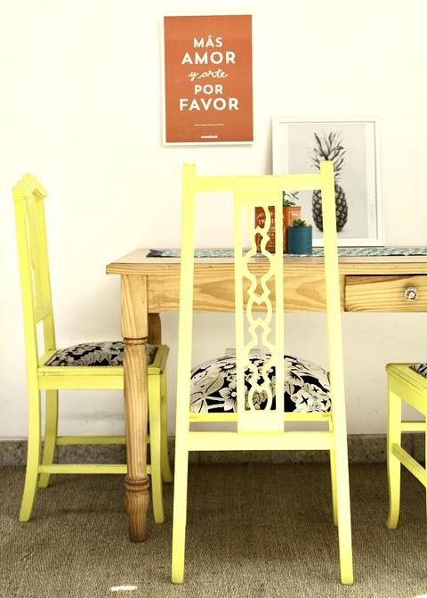 Comprar sillas sillones en nobles pensamientos for Sillas amarillas