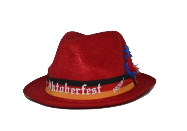 Chapéu Tirolês Vermelho Unissex - Cristina Store 9ff4c5d3c28