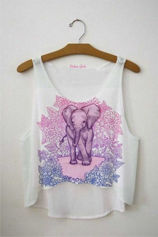 Top cropped - Elefante Hippie 01