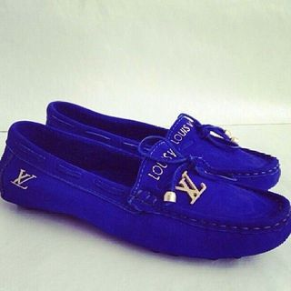 Mocassim Louis vuitton azul royal