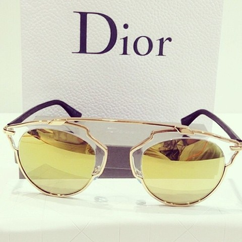 Óculos Dior so real dourado Gold