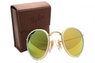 Ray ban round dobravel gold