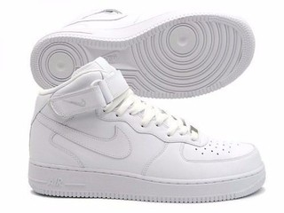 Tenis nike air force branco cano alto
