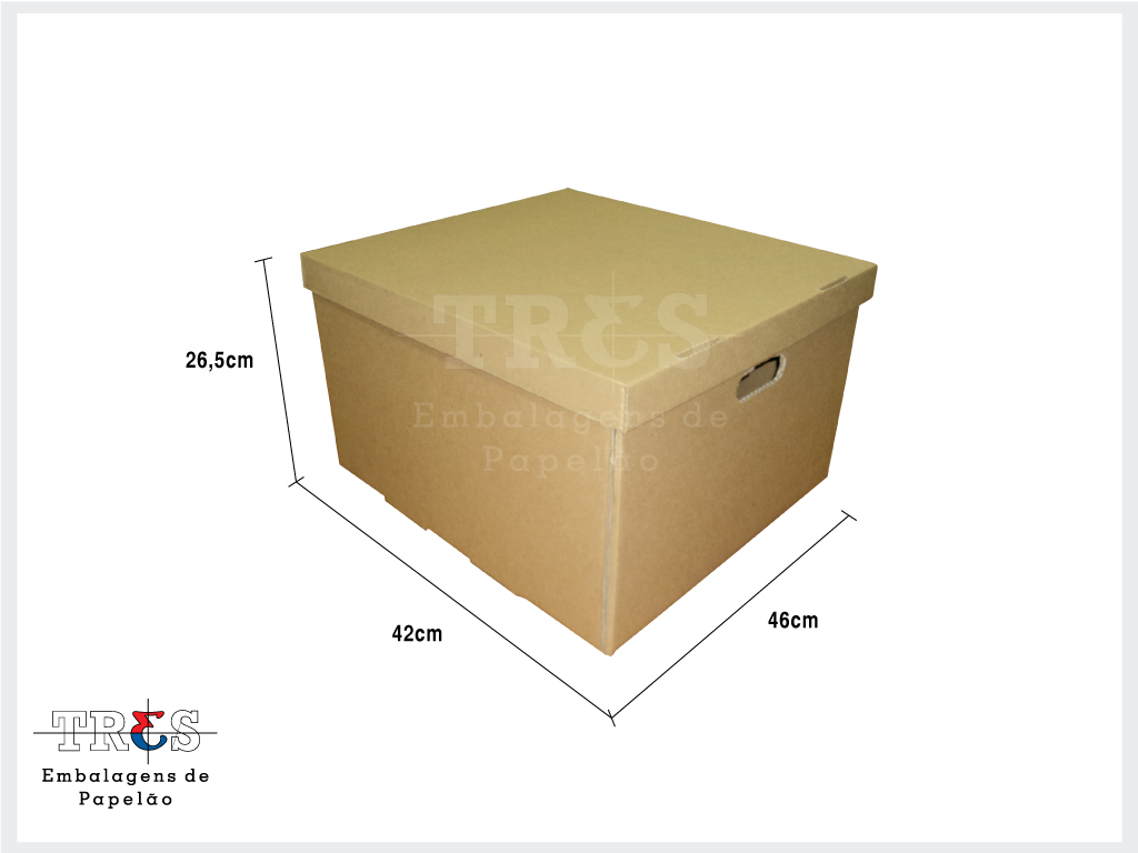 Arquivo morto p / pastas suspensas - C: 46 X L: 42 X A: 26,5 cm - Parda - Pcte 10 unids