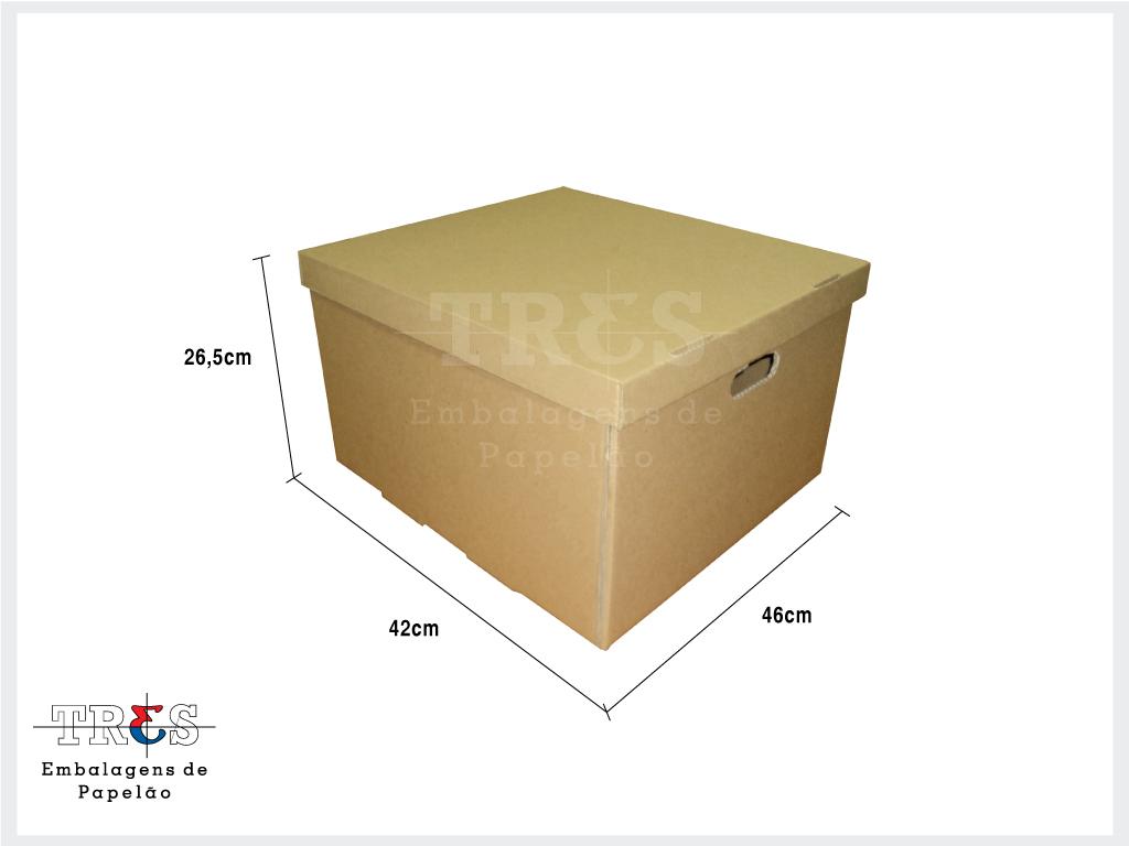 Arquivo morto p / pastas suspensas - C: 46 X L: 42 X A: 26,5 cm - Parda - Pcte 100 unids
