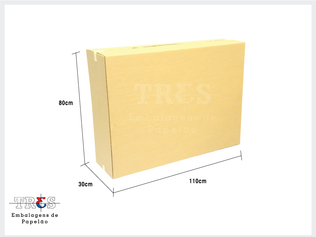 Caixa para TV LCD - 40 a 42 ´ - C: 110 X L: 30 X A: 80 cm - Onda dupla - Parda - 1 unid