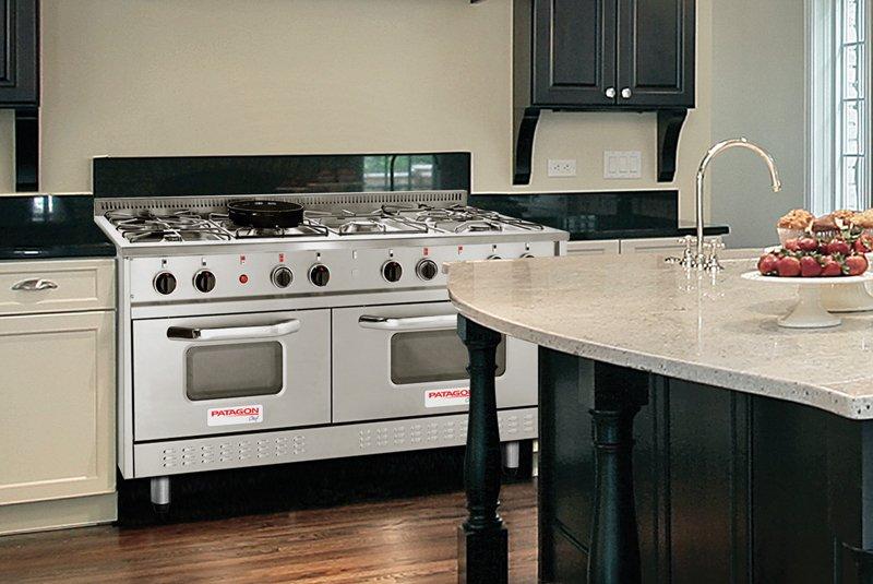 Patagon w60 cocina profesional gas 154cm enc valv seg 6085 for Cocina gas profesional