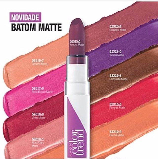 Muito Batom Matte Avon Color Trend 3,6 g RS12