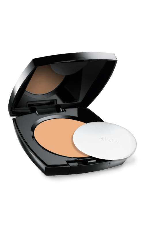 Avon Maquiagem Pó Compacto Facial Efeito Matte Caramelo