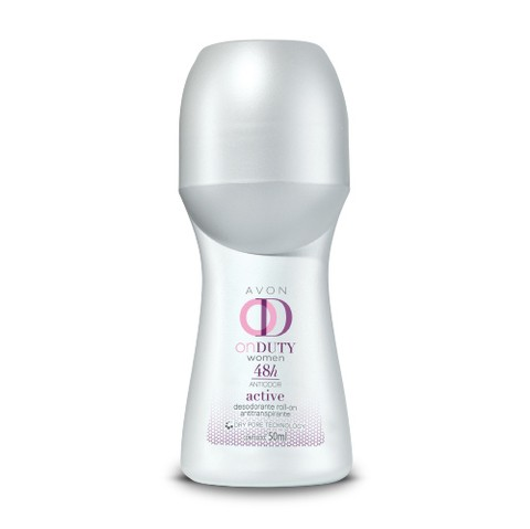 Avon On Duty Women Active Desodorante Roll-on Antitranspirante Feminino 48h 50ml 50767-0