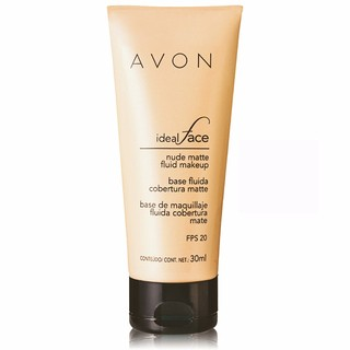 Avon Ideal Face Base Fluida Cobertura Matte FPS 20 30ml - loja online
