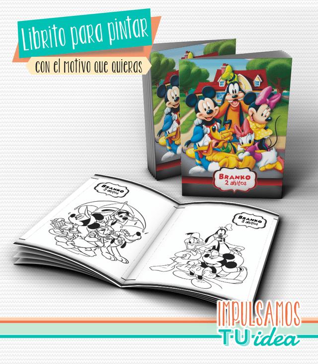Mickey y sus amigos, librito para colorear imprimible