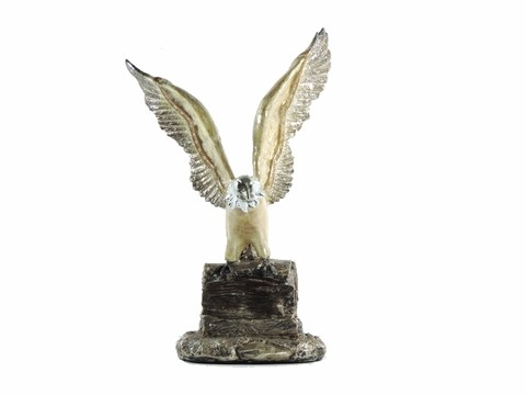 2074 - ESTATUETA AGUIA ESPECIAL COLLECTION NG 26CM - DEMELO OBJECTS