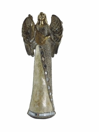 ESTATUETA ANJO ESPECIAL COLLECTION 25CM 2MOD JG C/2 - DEMELO OBJECTS