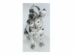3011 - ESTATUETA DOG FASHION LUXO PINT SILVER 21CM - comprar online