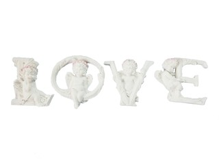 8950 - LETRAS LOVE ANJO FLORET COLLECTION EDI.LIMITED 8CM