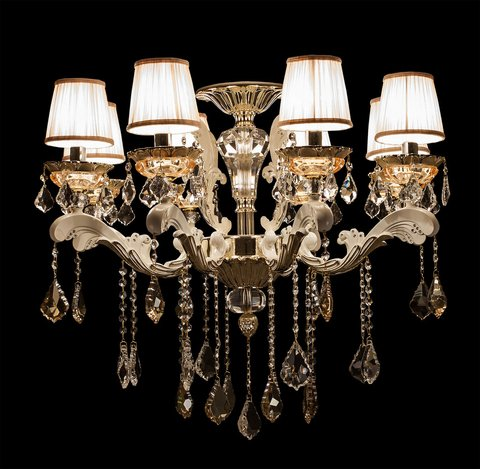 LUSTRE FRENCH GOLD 6 BRACOS
