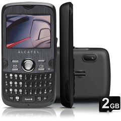 ALCATEL OT800 CARBON - GSM C/ TECLADO QWERTY, CÃMERA 2MP, FILMADORA, WEBCAM, MP3 PLAYER, RÁDIO FM, BLUETOOTH ESTÉREO 2.0