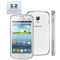 SAMSUNG GALAXY S DUOS BRANCO COM DUAL CHIP, CÂMERA 5MP, ANDROID 4.0, 3G, WI-FI, GPS, TELA FULL TOUCH, BLUETOOTH