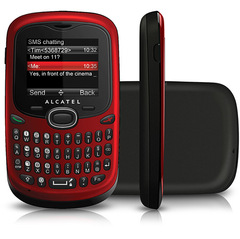 ALCATEL OT-255 CHERRY RED DUAL CHIP COM TECLADO QWERTY