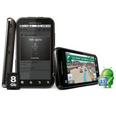 MOTOROLA DEFY PRETO C/ MOTOBLUR(TM), ANDROID 2.1, TOUCHSCREEN, CÂMERA 5MP, BLUETOOTH, GPS, WI-FI, 3G, FM, MP3,