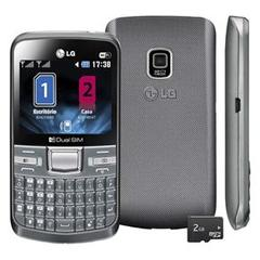 LG C199 PRATA COM DUAL CHIP, CAMERA 2MP, RADIO FM, MP3, TECLADO QWERTY, BLUETOOTH, WI-FI
