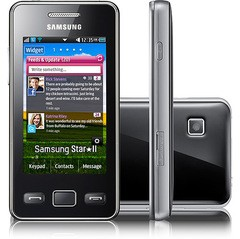 "SAMSUNG S5260 STAR 2 PRETO TELA 3"" TOUCHSCREEN 3.2MP"