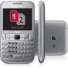 SAMSUNG S3572 CHAT 357 CINZA DUAL CHIP WIFI FM QWERTY