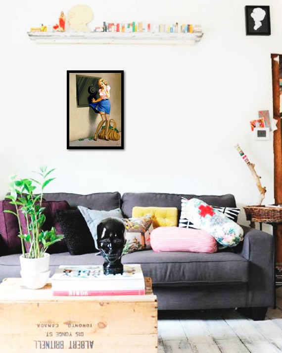 Quadro Poster Pinup Cofre - comprar online