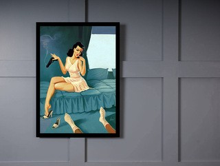 Quadro Poster Pinup Cama on internet