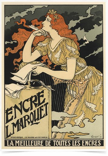 Poster The Belle Epoque Encre