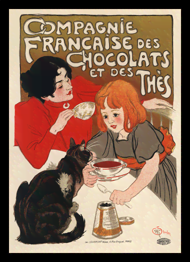 Quadro Poster The Belle Epoque Chocolats Thes