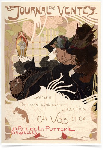 Poster The Belle Epoque Journal des Ventes