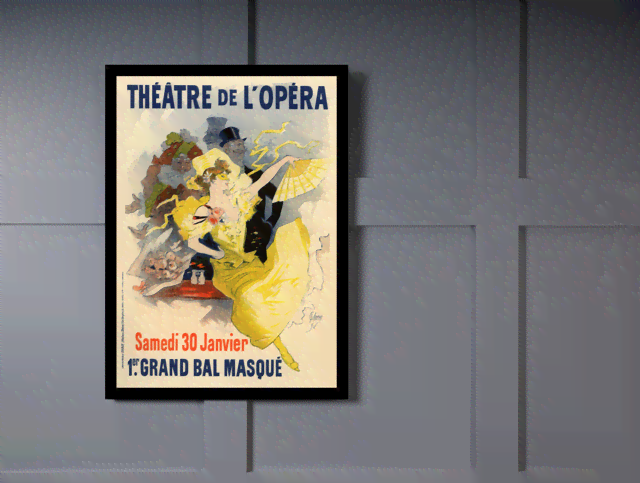 Quadro Poster The Belle Epoque Theatre de L Opera na internet