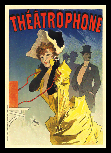 Quadro Poster The Belle Epoque Theatrophone