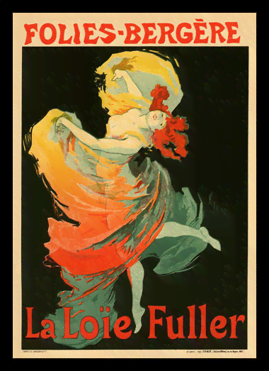 Quadro Poster The Belle Epoque La Loie Fuller
