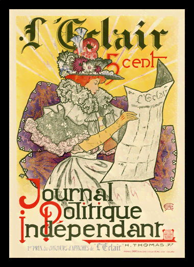 Quadro Poster The Belle Epoque Journal Politique