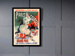Quadro Poster The Belle Epoque Paris Courses en internet