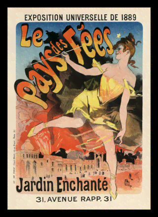 Quadro Poster The Belle Epoque Le Pays des Fees