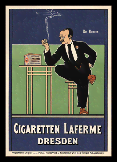 Quadro Poster The Belle Epoque Cigaretten Laferme