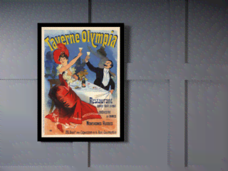 Quadro Poster The Belle Epoque Taverne Olympia on internet