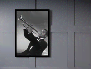 Quadro Poster Grandes Nomes da Musica Louis Armstrong 2 on internet