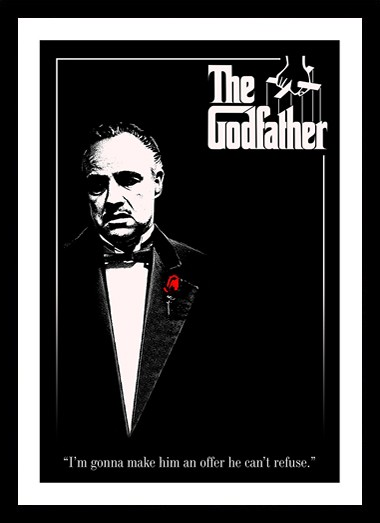 Quadro Poster Cinema Filme The Godfather