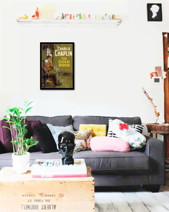 Quadro Poster Cinema Filme The Gold Rush - comprar online