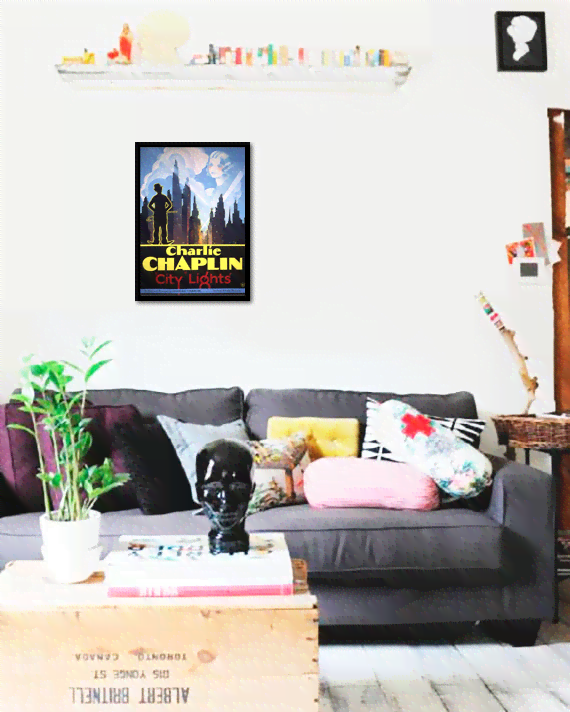 Quadro Poster Cinema Filme City Lights - comprar online