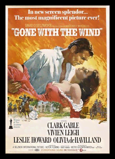Quadro Poster Cinema Filme Gone With The Wind