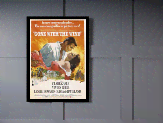 Quadro Poster Cinema Filme Gone With The Wind on internet