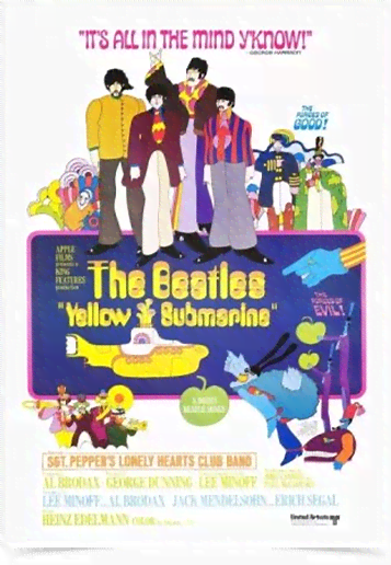 Poster Cinema Filme Yellow Submarine