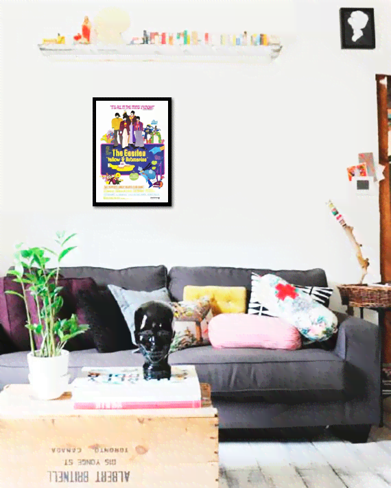 Quadro Poster Cinema Filme Yellow Submarine - comprar online