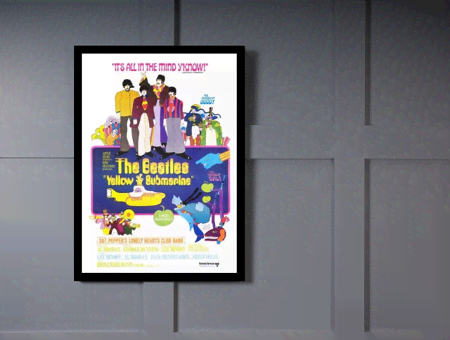 Quadro Poster Cinema Filme Yellow Submarine na internet